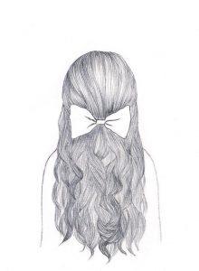 Картинки для срисовки карандашом девушки со спины (19)