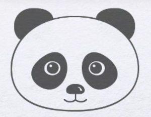 Картинки для срисовки карандашом панды 022