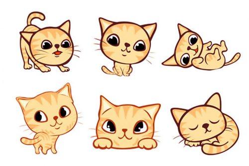 Картинки для срисовки кошки   красивые и милые (19)