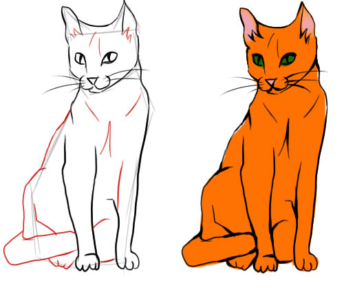 Картинки для срисовки кошки   красивые и милые (29)