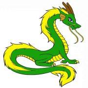 Картинки для срисовки легкие драконы 024