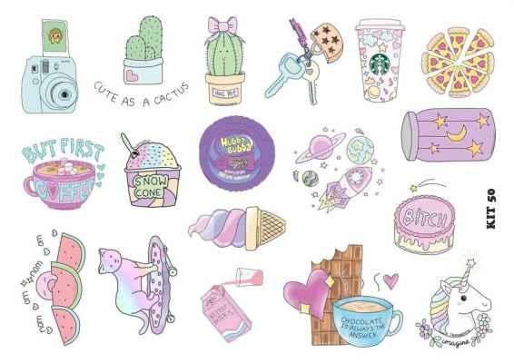 Картинки для срисовки милые тумблер 017