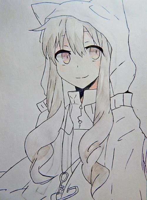 Картинки для срисовки няшки аниме