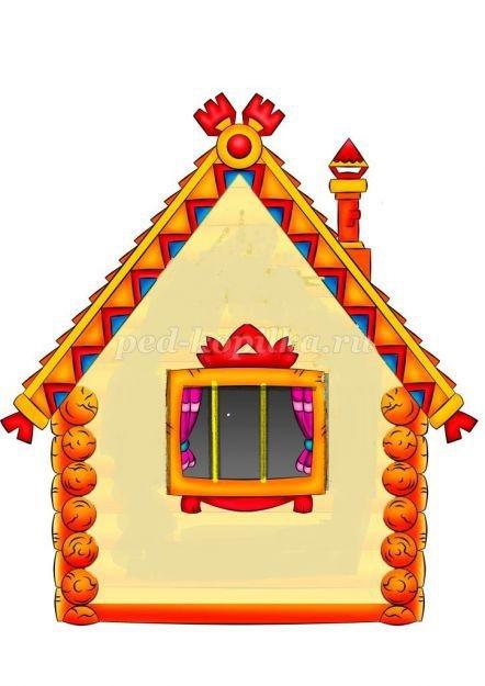 Картинки домик с окошками для детей 001