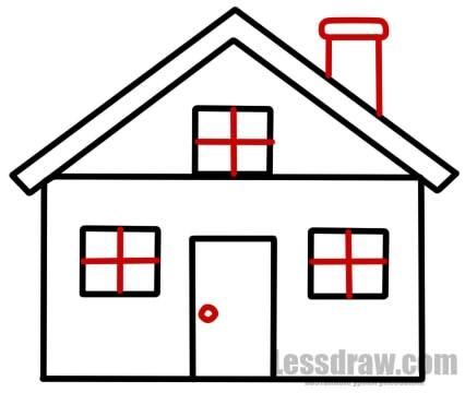 Картинки домик с окошками для детей 006