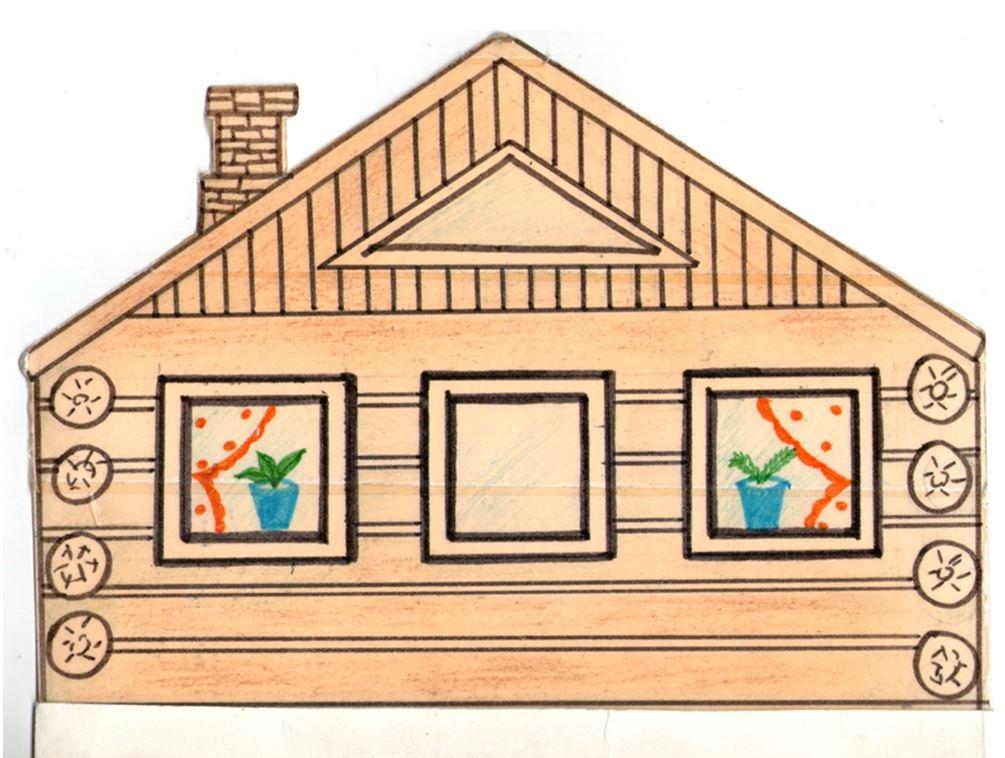 Картинки домик с окошками для детей 020