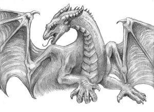 Картинки драконы карандашом для срисовки 029