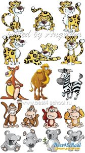 Картинки животных на прозрачном фоне для детей (19)