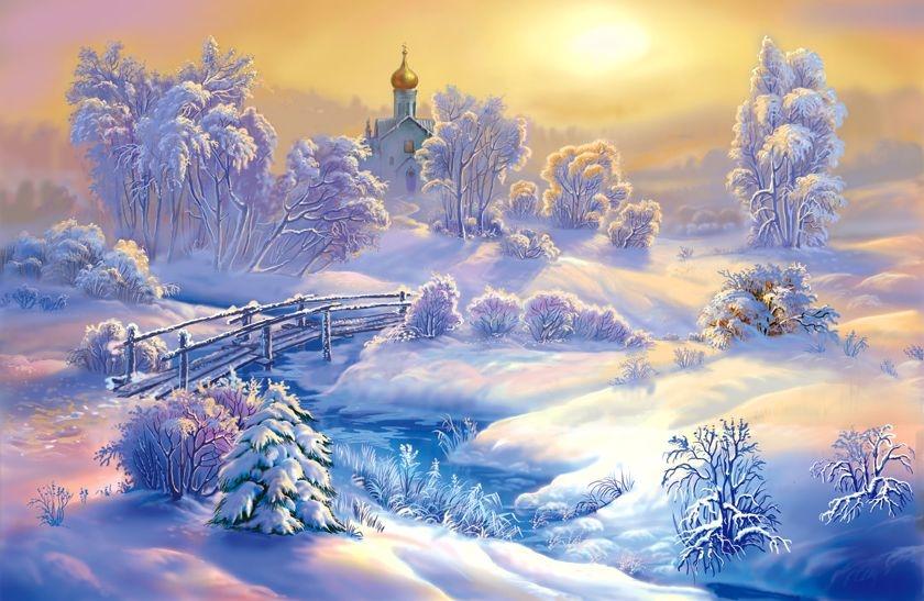 Зимняя сказка с картинками