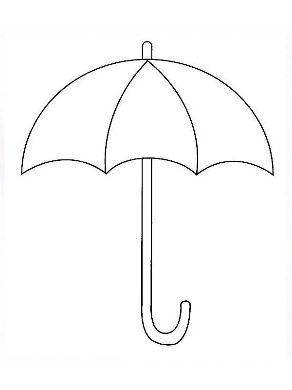 Зонт черно-белые картинки для детей