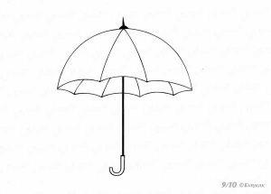 Картинки зонт раскраска для детей   подборка 027