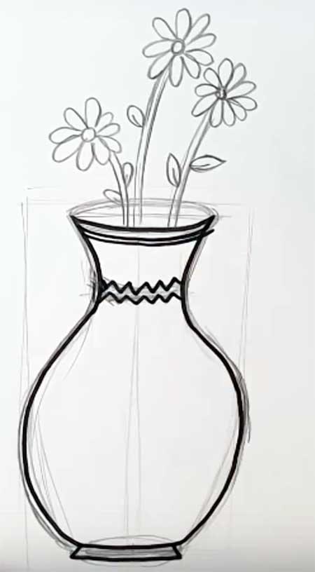 ваза с цветами рисунки простым карандашом связи этим жилье