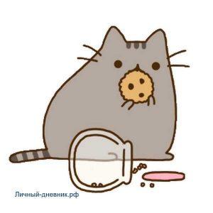Картинки котиков милых и няшных для срисовки 019