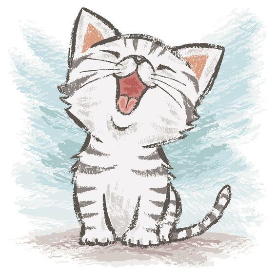 Картинки кошки карандашом для срисовки 002