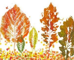 Картинки листьев осенних карандашом   подборка 028
