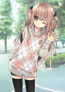 Картинки милые аниме девочки и девушки 028