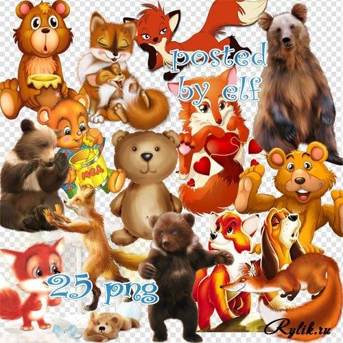 Картинки мишка для детей на прозрачном фоне 009