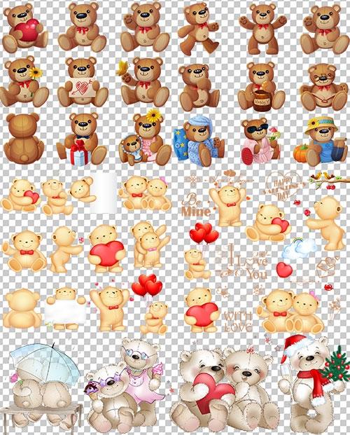 Картинки мишка для детей на прозрачном фоне 011