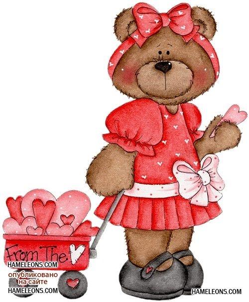 Картинки мишка для детей на прозрачном фоне 012