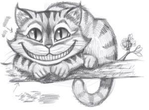 Картинки нарисованные котики карандашом 024
