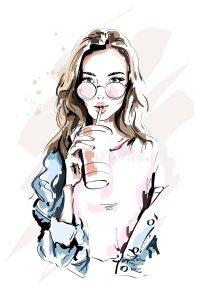 Картинки нарисованных девочек красивых 027