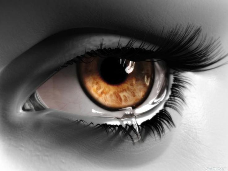 Картинки на аву глаза карие   мужские и женские 002