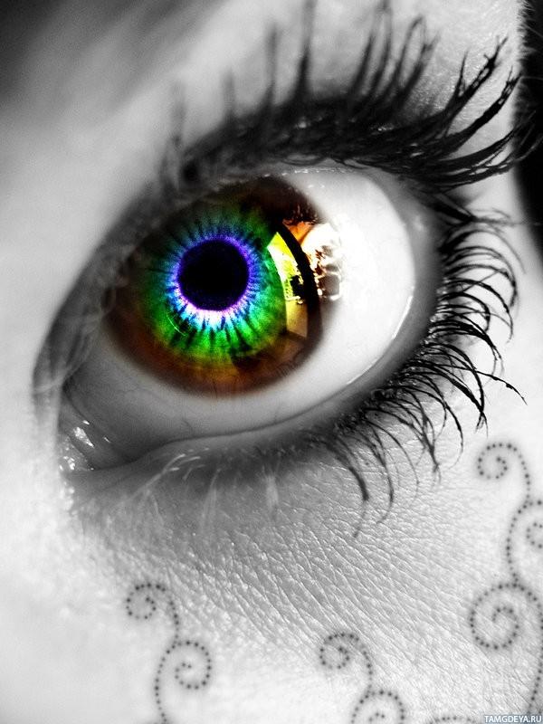 Картинки на аву глаза карие   мужские и женские 017