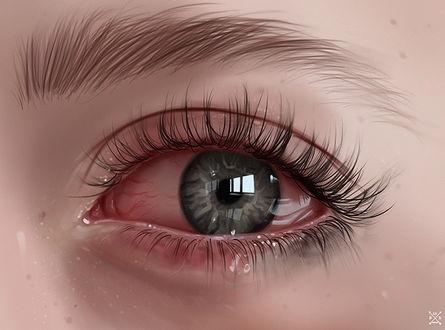 Картинки на аву глаза карие   мужские и женские 022