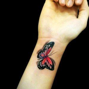 Картинки на руке бабочка   фото 021