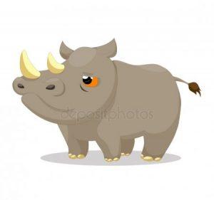 Картинки носорог для детей нарисованные 028