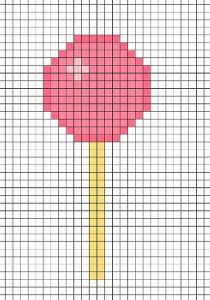 Картинки по клеточкам для девочек 10 лет.   подборка 029