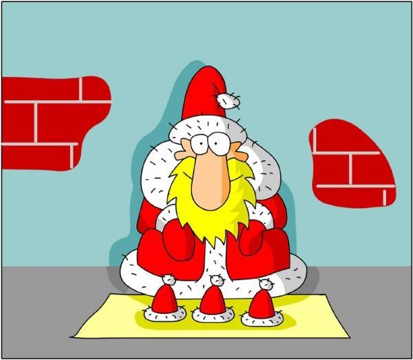 Дед мороз смешные рисунки, открытки