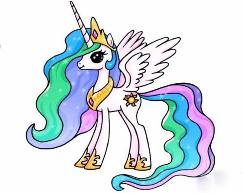 Картинки про лошадей с крыльями и рогом007