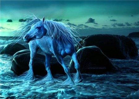 Картинки про лошадей с крыльями и рогом016