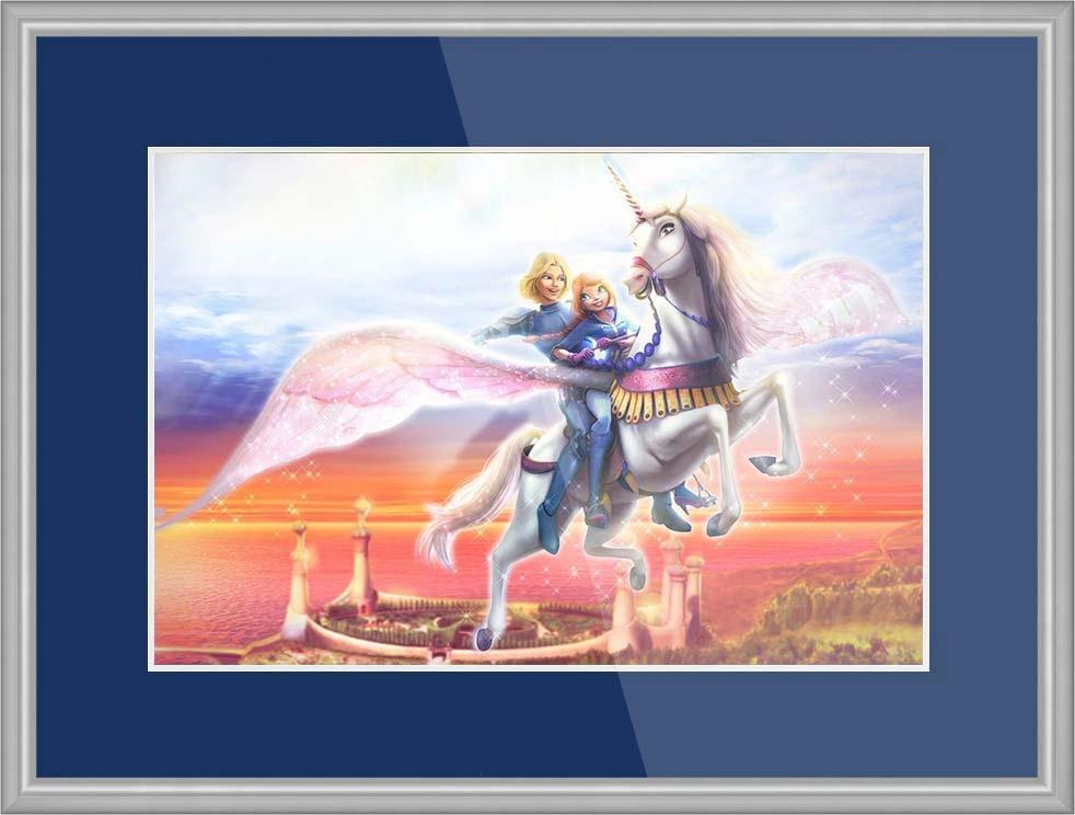 Картинки про лошадей с крыльями и рогом018