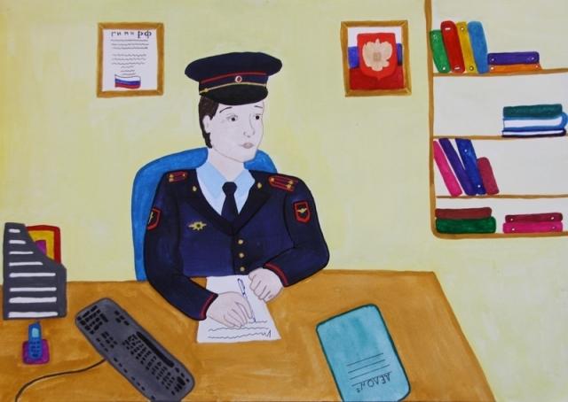 Картинки про полицейских для детей 007