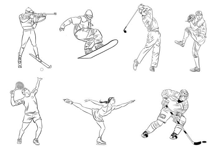 Картинки про спорт для срисовки   подборка 011
