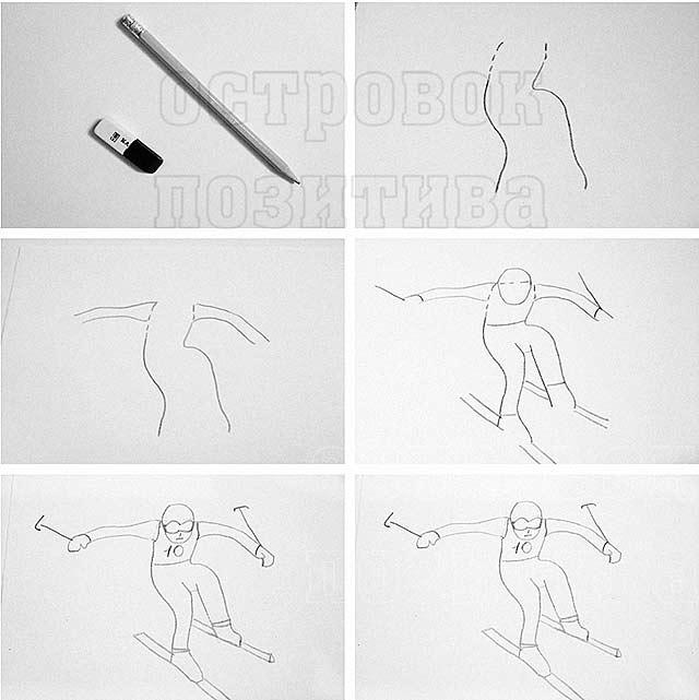 Картинки про спорт для срисовки   подборка 020