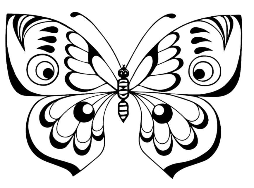 Шаблон бабочки для раскраски распечатать, картинки красивые