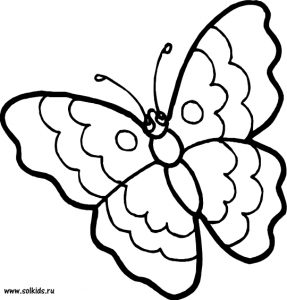 Картинки раскраски бабочки распечатать для детей 029
