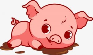 Картинки свинья на прозрачном фоне   подборка 024