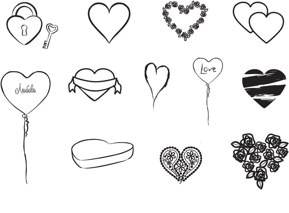 Картинки сердечки самые красивые   сборка 022