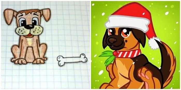Картинки собака для детей нарисованные   картинки (13)