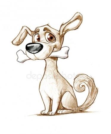 Картинки собака для детей нарисованные   картинки (18)