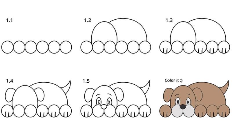 Картинки собака для детей нарисованные   картинки (21)