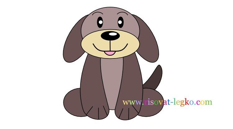 Картинки собака для детей нарисованные   картинки (22)