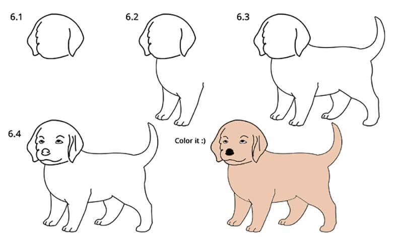 Картинки собака для детей нарисованные   картинки (24)