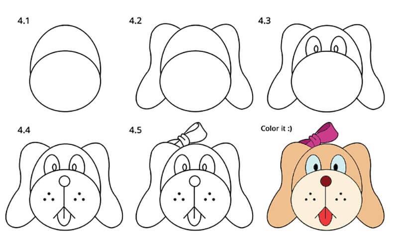 Картинки собака для детей нарисованные   картинки (5)