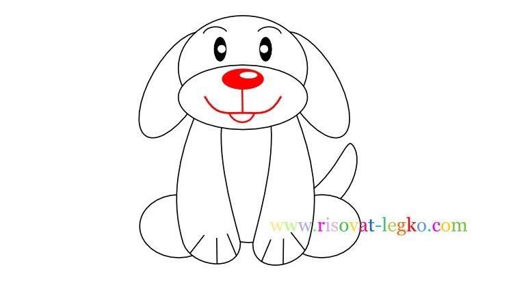 Картинки собака для детей нарисованные   картинки (9)