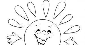 Картинки солнышко раскраска для детей 029